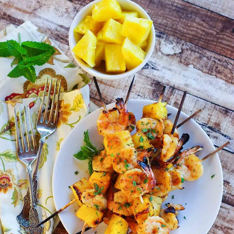 Mint & Honey Hawaiian Shrimp Skewers