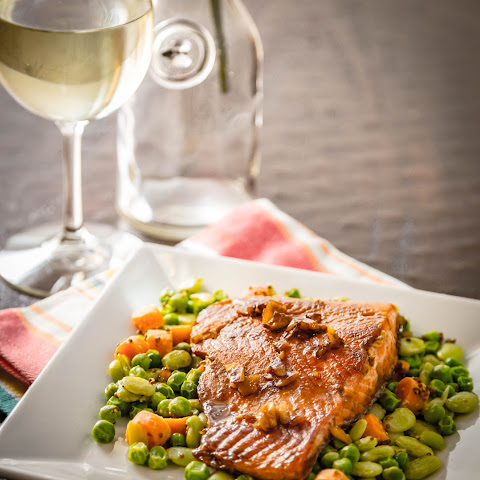 Wine & Honey Glazed Salmon