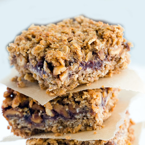 Peanut and Jam Oatmeal Bars