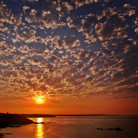 Over the ocean by Ciprian Apetrei - Landscapes Sunsets & Sunrises ( clouds, sunset, ocean, brittany, landscape )