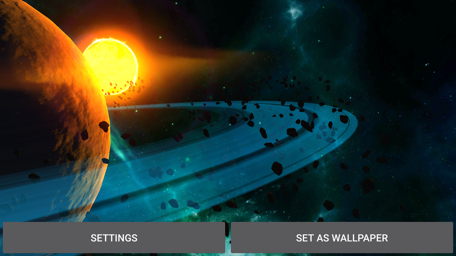 3D Galaxy Pack Live Wallpaper Screenshot 14