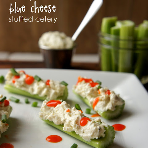 Creamy Buffalo Blue Cheese Stuffed Celery