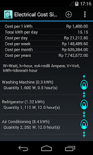 Electrical Cost Simulation - screenshot