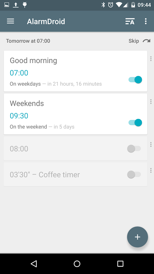 AlarmDroid (alarm clock) Screenshot 0