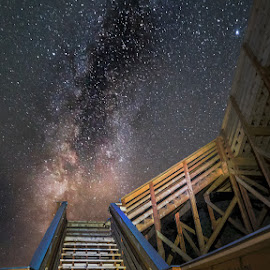 Up the Down Stairs by Matt Reynolds - Buildings & Architecture Other Exteriors ( cape cod night photography )