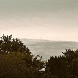 Distant  rain by Gordon Simpson - Landscapes Weather