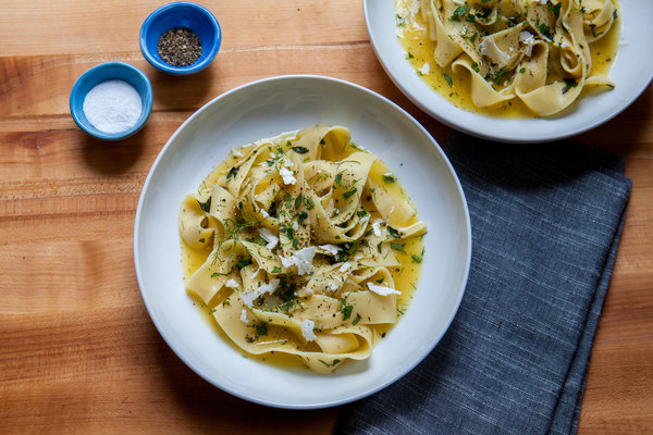 Pasta With Lemon, Herbs and Ricotta Salata Recipe | Yummly