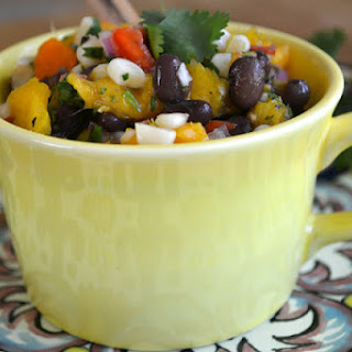Black Bean, Corn and Mango Salsa