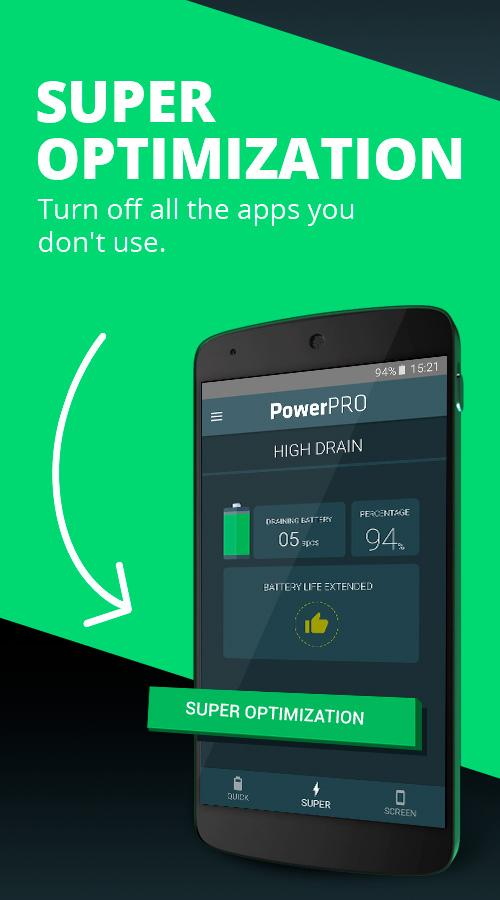 PowerPRO - Battery Saver Screenshot 1