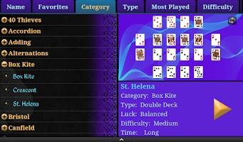 Screenshot of Solitaire MegaPack