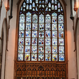 Stained glass. by Ian Burden - Buildings & Architecture Places of Worship