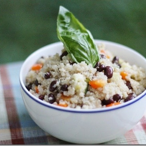 Easy Black Bean and Quinoa Salad with Quick Cumin Dressing (gluten free, soy free)
