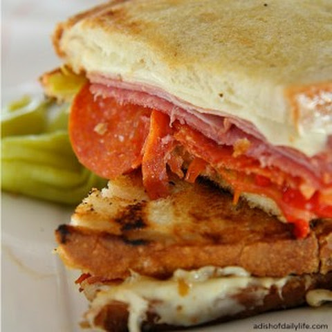Grilled Italian Panini with Hormel Pepperoni
