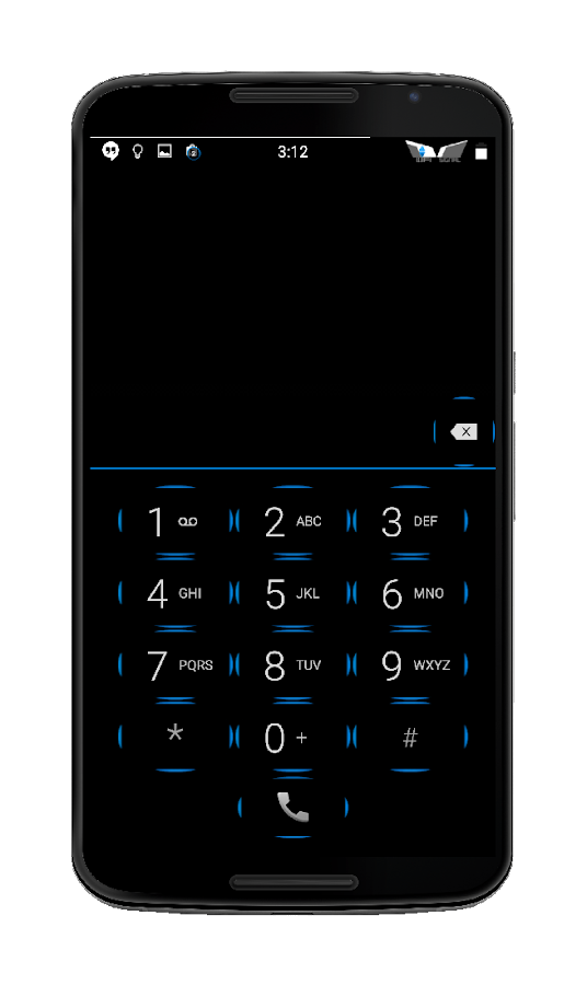 Blak Azurro  CM12-13 Theme Screenshot 0