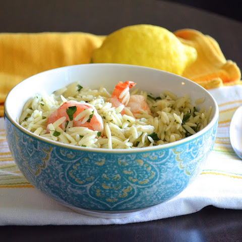 Garlic Lemon Shrimp Orzo