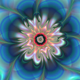 Flower 14 by Cassy 67 - Illustration Abstract & Patterns ( modern, abstract, wallpaper, digital art, harmony, flowers, fractal, digital, fractals, floral, flower )