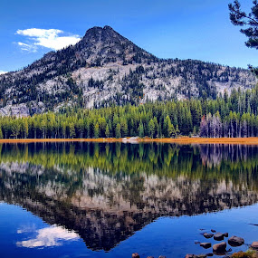 Mountain lake by D.j. Nichols - Instagram & Mobile Android ( mountain lake,  )