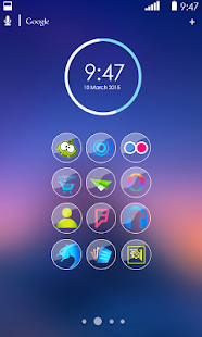 Blue Glass Icon Pack - screenshot