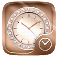 RoseGold GO Clock Theme APK for Bluestacks