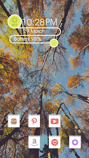 Altitude blue sky Trees theme - screenshot