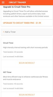 Circuit Trainer Fitness app screenshot for Android