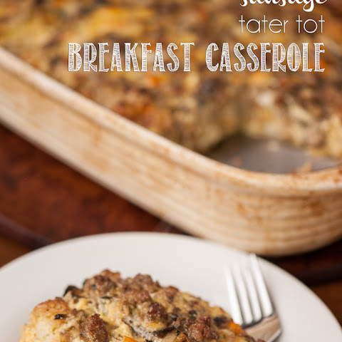 Sausage Tater Tot Breakfast Casserole