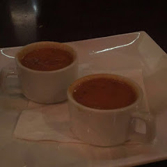 Waiter sent over samples of the gluten free tomato soup... So great! Biscottis that come with ARENT gf