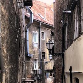 Old part of Zagreb by Marija Čaušić - City,  Street & Park  Street Scenes ( roof, building, street, stone, light )