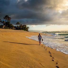 Walking by Darren Sutherland - Landscapes Beaches ( hawaii 2015 )