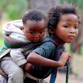 San children in Namibia. by Lorraine Bettex - Babies & Children Child Portraits (  )