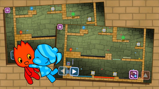 Redboy and Bluegirl in Light Temple Maze