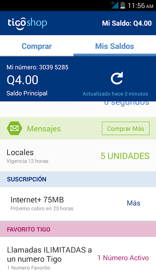 Tigo Shop Screenshot 2