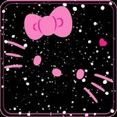 Theme Cute Kitty black pink