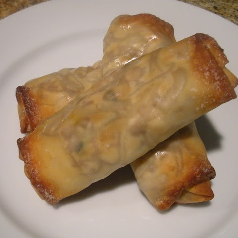 Baked Vegetarian Egg Rolls with Peanut Sauce (3 SP)