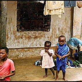 Kenyan  Kids 1990 (non Digital) by Paul White - Babies & Children Toddlers ( kenya, kids )
