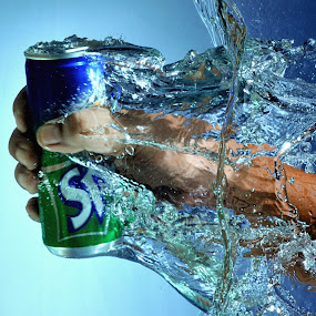 Splashing Fanta by Bang Munce - Food & Drink Alcohol & Drinks ( water, splash, still life, drink, beverages )