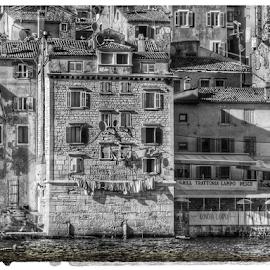 Croatia streets by Mandy Hedley - City,  Street & Park  Neighborhoods ( white, croatia, architecture, black, neighbourhood,  )