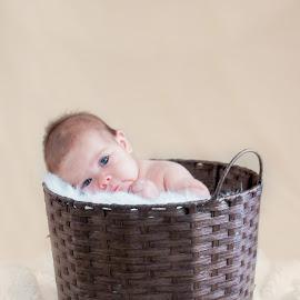 Emmalyn by Jenny Hammer - Babies & Children Babies ( girl, basket, adorable, baby, cute )