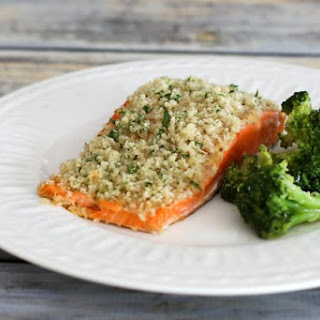 Mustard and Panko Crusted Salmon Fillets