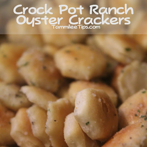 Crock Pot Ranch Oyster Crackers