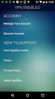 Screenshot of Spotflux VPN