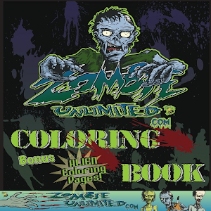 Adult Coloring Book - Zombie World #1 For PC / Windows 7/8/10 / Mac – Free Download