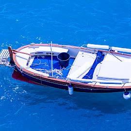 Boat Italy by Robin Tobon - Transportation Boats ( blue, water, boat, sea, italy,  )