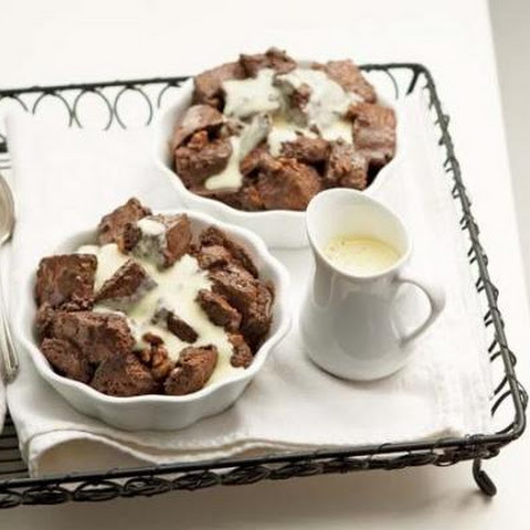 Chocolate-Walnut Bread Pudding