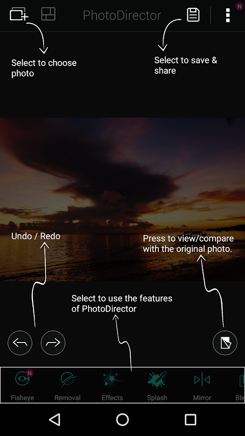 PhotoDirector Photo Editor App Screenshot 7
