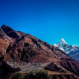 Close yet so far by Akashneel Banerjee - Instagram & Mobile Android ( mountain, nature, himalaya, trekking, nepal )