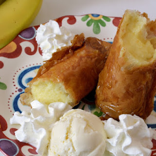 Fried Banana Cheesecake Rolls