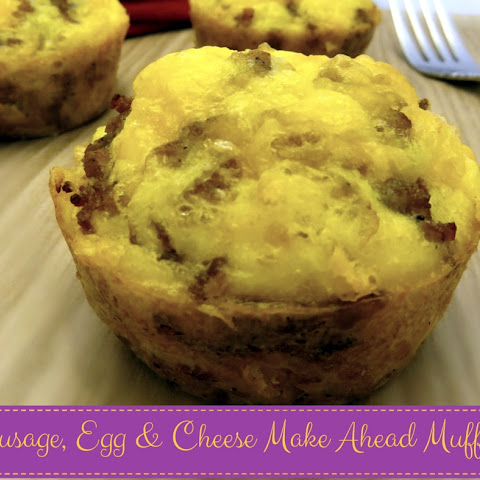 Sausage, Egg & Cheese Make Ahead Muffins