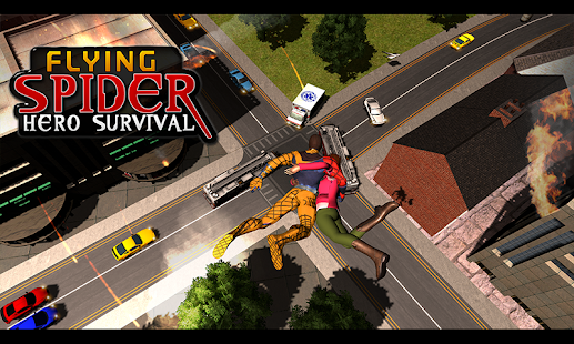 Flying Spider Hero Survival