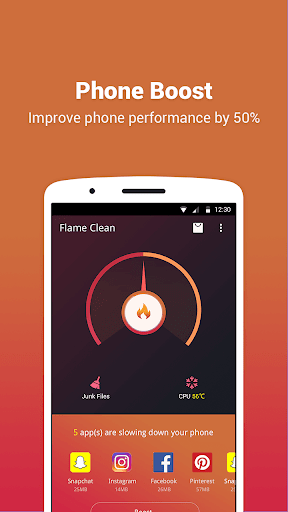 Flame Clean: Boost; Power save For PC